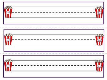 Circus Theme Editable Name Plates