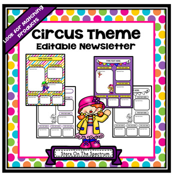 Circus Theme Editable Newsletter