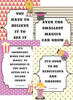 Circus Theme Inspirational Posters