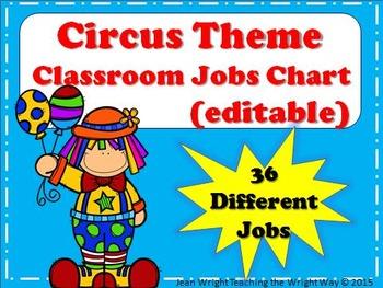 Circus Theme Job Chart