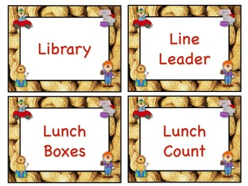 Circus Theme Job Chart Cards / Signs - Great for Classroom Management!!!