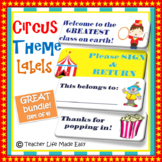Circus Theme Labels