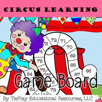 Flash Freebie Circus Carnival Theme Learning Game Board Activity No Prep