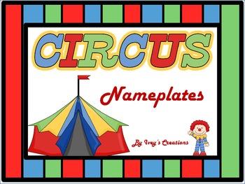 Circus Theme Nameplates