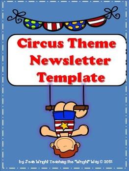 Circus Theme Newsletter Template (editable)