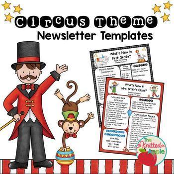 Circus Theme Newsletter Templates