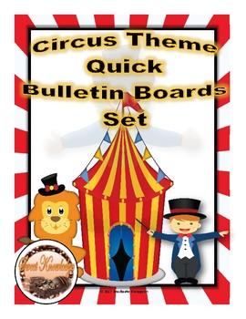 Circus Theme Quick Bulletin Boards Set
