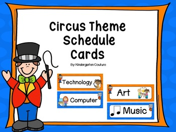 Circus Theme Schedule Cards & Editable Page