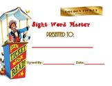 Circus Sight Word Award