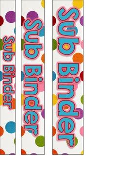 Circus Theme Substitute Binder