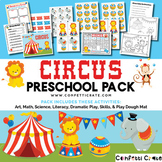 Circus Activities Preschool (color and black & white version)
