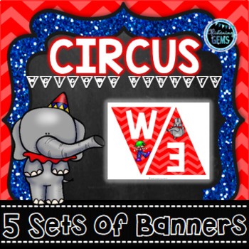 Circus Theme Welcome Banners - Classroom Decor