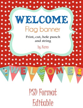 Circus Theme Welcome Flag Pennant ~Now in jpeg Format~