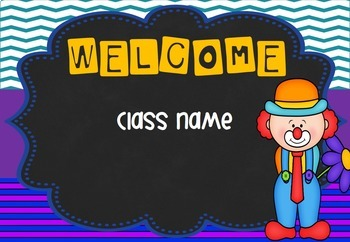 Circus Theme - Welcome Signs