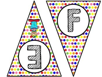 Circus Theme Word Wall Letters Pennant