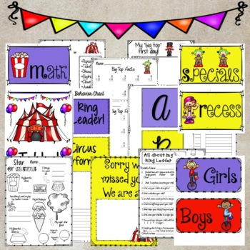 Circus Theme & Classroom Decor Activities K-5
