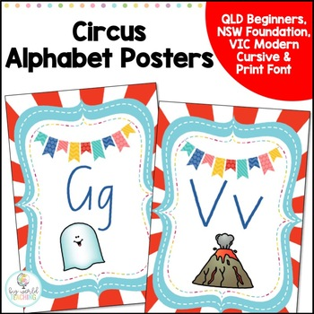 Circus Themed A4 Alphabet Posters