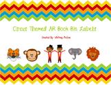 Circus Themed AR Book Bin Labels