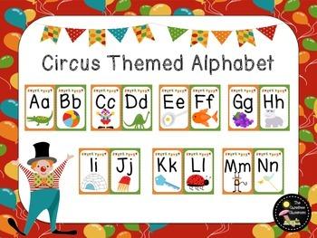 Alphabet Line: Circus Themed