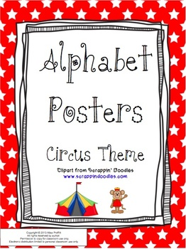 Circus-Themed Alphabet Posters
