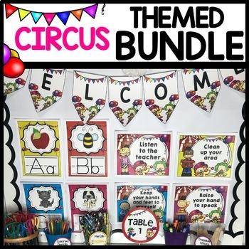 Circus Themed BUNDLE Classroom Decor