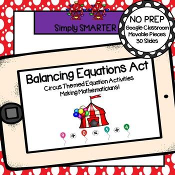 Circus Themed Balancing Equation Activities For GOOGLE CLASSROOM