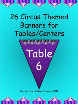 Circus Themed Banners for Tables/Centers