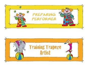 Circus Themed Behavior Chart