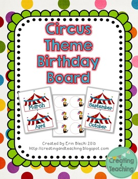 Circus Themed Birthday Pack