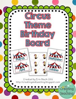Circus Themed Birthday Pack