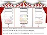 Circus Themed Bossy R Word Sort: R-Controlled Words