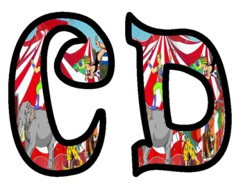 Circus Themed Bulletin Board Letters