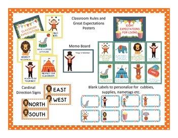 Circus Themed Classroom Decor Bundle
