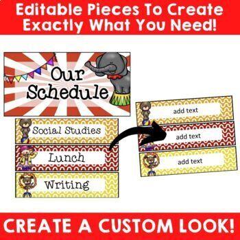 Circus Theme: Classroom Decor (BUNDLE)