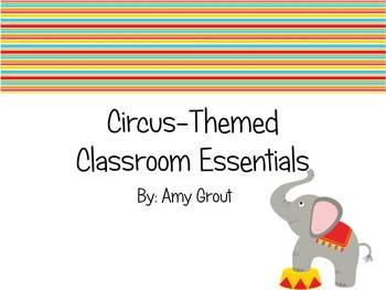 Circus-Themed Classroom Essentials