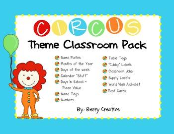 Circus Themed Classroom Kit
