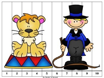 Circus Themed Counting Puzzles