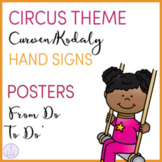 Circus Themed Curwen/Kodaly Hand Sign Posers