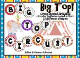 Circus Themed Editable Bulletin Board Banner