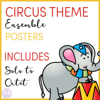Circus Themed Ensemble Posters