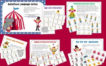 Circus Themed Language Bundle