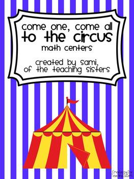 Circus Themed Math Centers - Common Core Aligned