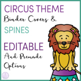 Circus Themed Music Teacher Binder Covers and Spines