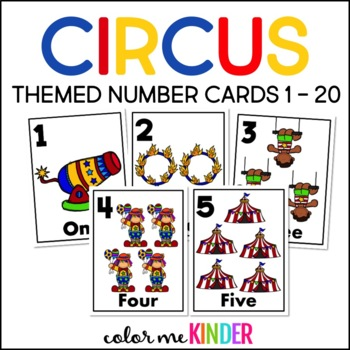 Circus Theme Number Cards 1- 20