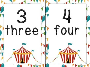 Circus Themed Number Line