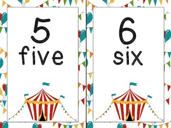 Number Line: Circus Themed