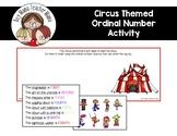 Circus Themed Ordinal Number Activity