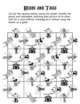 Under the Big Top Paper Puzzles