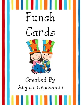 Circus Themed Punch Cards
