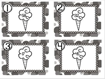 Circus Themed Task Cards Cotton Candy Odd or Even